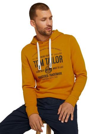 sweater met logo oker