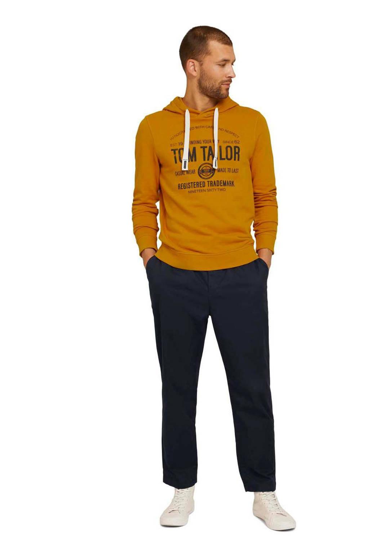 Tom Tailor hoodie met logo oker, Oker