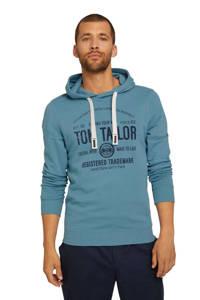 Tom Tailor hoodie met logo blauw, Blauw