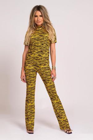 top Tiger met dierenprint geel/ zwart