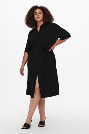 blousejurk CARVISTALA met ceintuur zwart