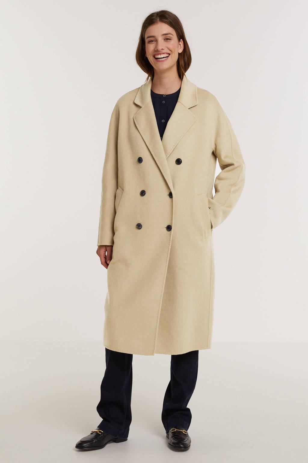 Tommy Hilfiger  coat tussen/draagjas met wol beige, Beige