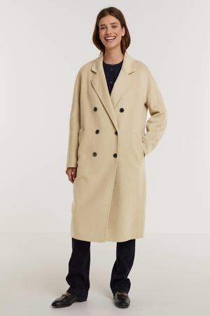 coat tussen/draagjas met wol beige