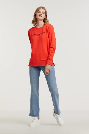 sweater van biologisch katoen rood