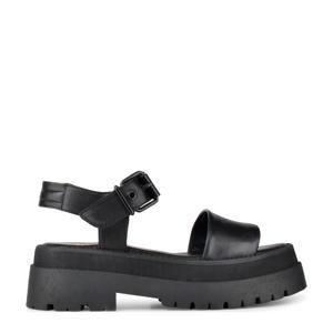 Korio  leren chunky sandalen zwart