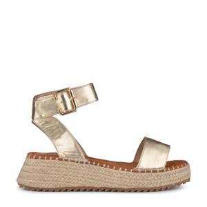 Tara  plateau sandalen goud