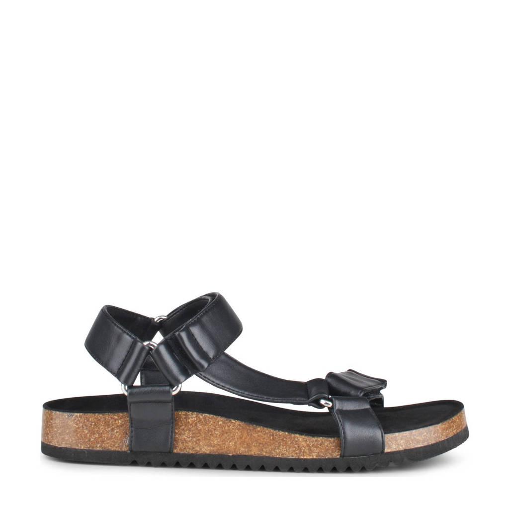 PS Poelman Amon  sandalen zwart, Zwart