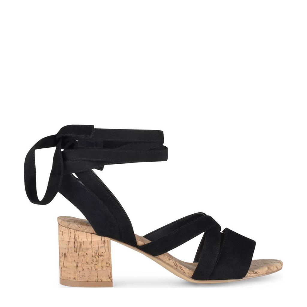 PS Poelman Nicka  sandalettes zwart, Zwart