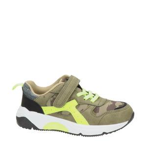 sneakers met camouflageprint groen
