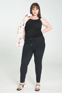 PROMISS skinny joggingbroek van travelstof zwart, Zwart