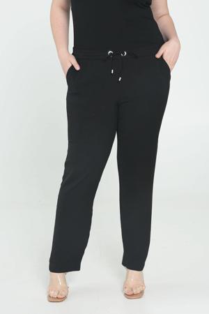 gemêleerde slim fit joggingbroek zwart