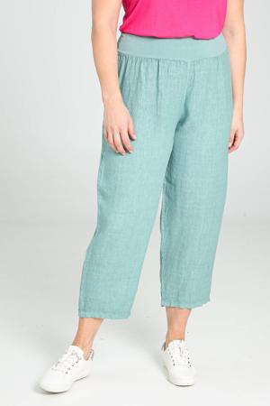 cropped straight fit broek lichtblauw