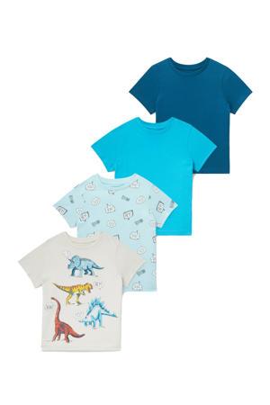 T-shirt - set van 4 multi color