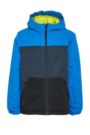 ski-jack Leer blauw