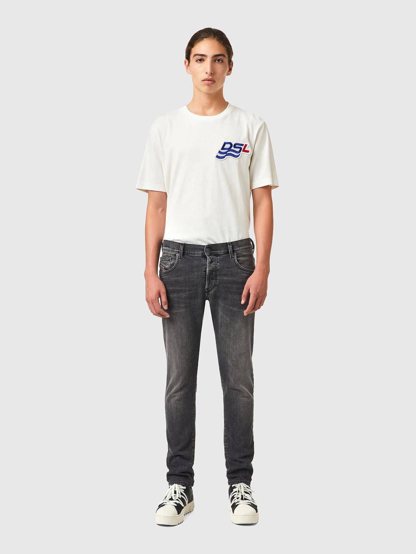 Diesel tapered fit jeans D-YENNOX zwart, Zwart