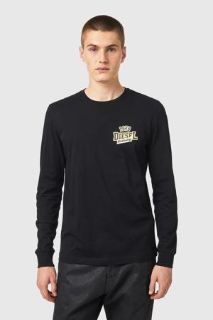 longsleeve T-DIEGOS met logo black