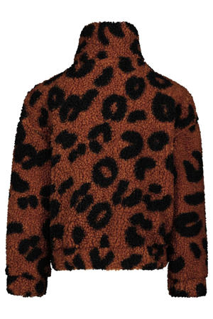 teddy jas Jay met dierenprint bruin/zwart