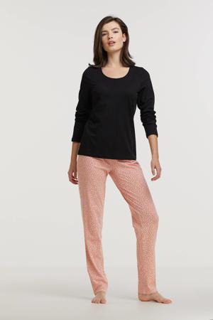 pyjama met stippen zwart/roze