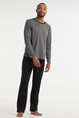 pyjama donkergrijs/zwart