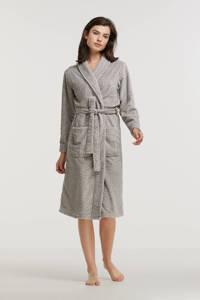 ten Cate fleece badjas met stippen grijs/wit, Grijs/wit