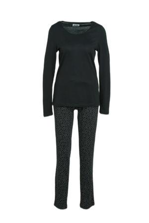 pyjama met stippen zwart