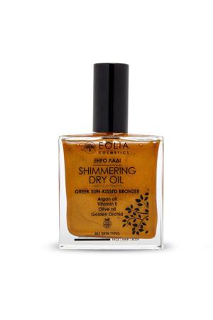 shimmering dry oil