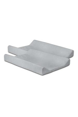 aankleedkussenhoes badstof - set van 2 50x70cm lichtgrijs