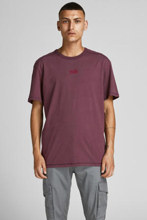 T-shirt Classic met logo paars