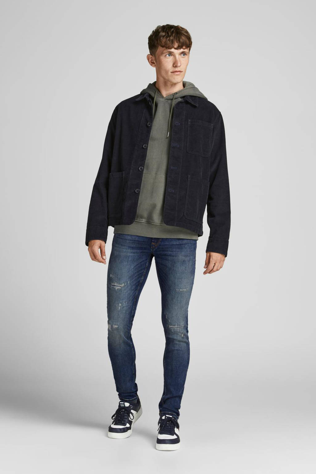 JACK & JONES JEANS INTELLIGENCE skinny jeans JJILIAM JJSEAL blauw, Blauw