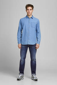 JACK & JONES JEANS INTELLIGENCE regular fit jeans JJICLARK JJORIGINAL blauw, Blauw