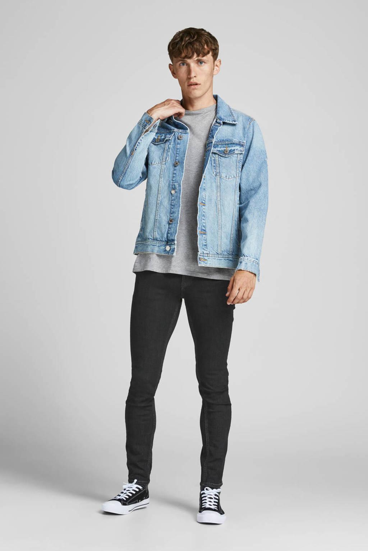 JACK & JONES JEANS INTELLIGENCE skinny jeans JJILIAM JJORIGINAL black denim, Black denim