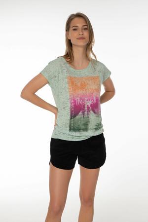T-shirt Omodos mintgroen