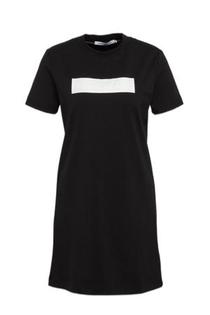T-shirtjurk met logo zwart