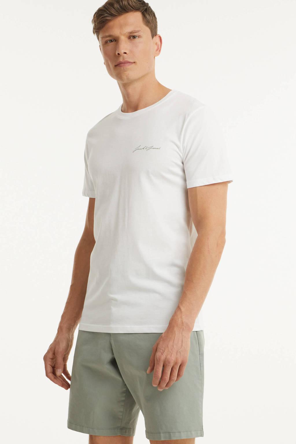 JACK & JONES ORIGINALS T-shirt wit, Wit