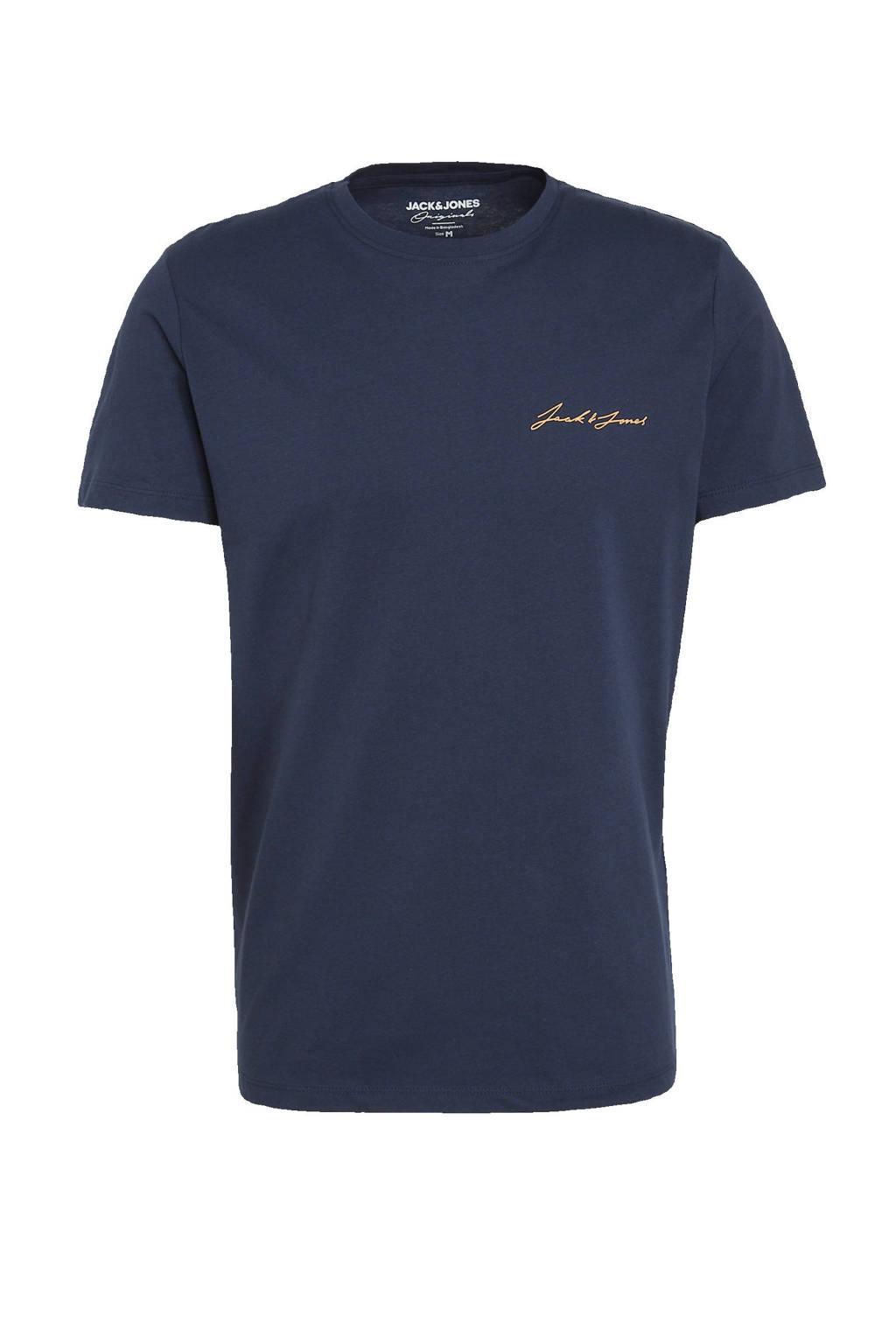 JACK & JONES ORIGINALS T-shirt donkerblauw, Donkerblauw