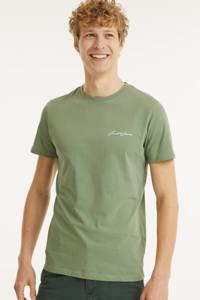 JACK & JONES ORIGINALS T-shirt grijsgroen, Grijsgroen