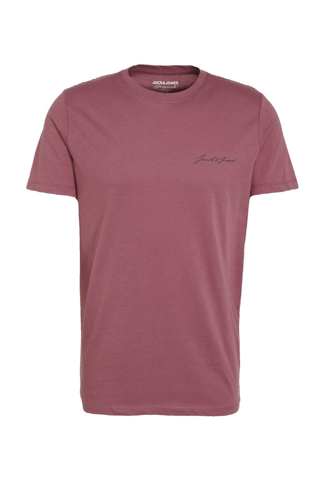 JACK & JONES ORIGINALS T-shirt paars, Paars