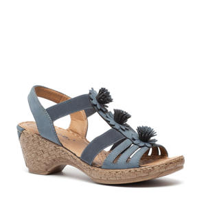 sandalettes blauw
