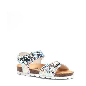 sandalen met dierenprint zilver