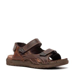 leren outdoor sandalen bruin