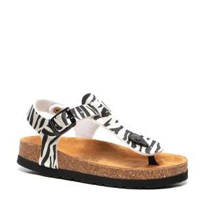 sandalen met zebraprint wit/zwart