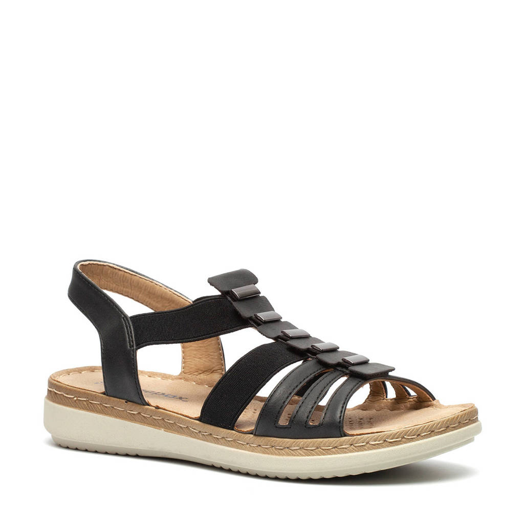 Scapino Blue Box   sandalen zwart, Zwart