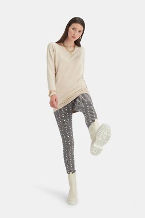 legging met grafische print zwart/wit