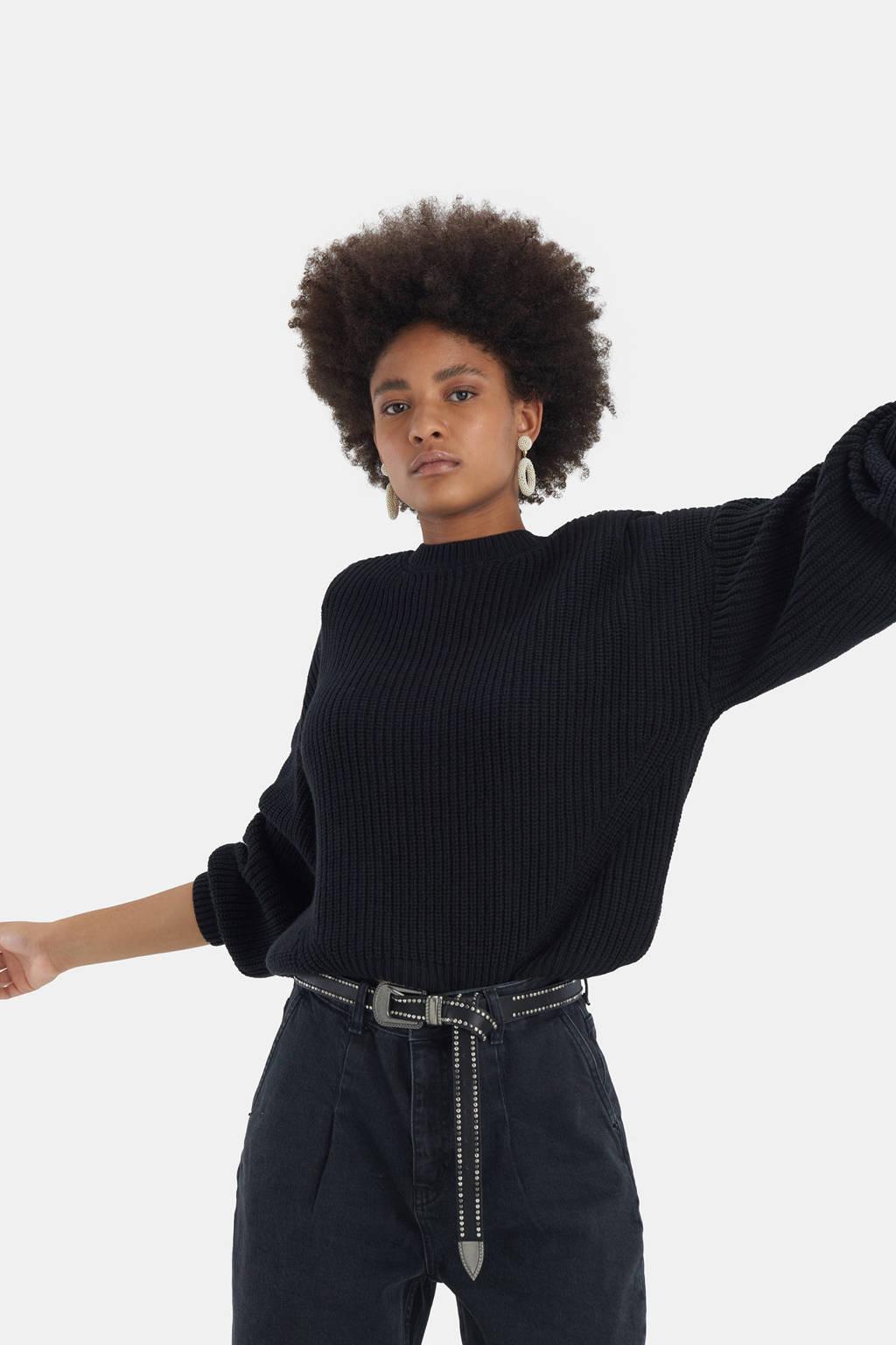 Shoeby Eksept gebreide trui Olivia zwart, Zwart