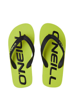 Profile Logo Sandals  teenslippers geel/groen