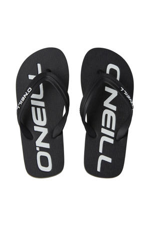 Profile Logo Sandals  teenslippers zwart/wit