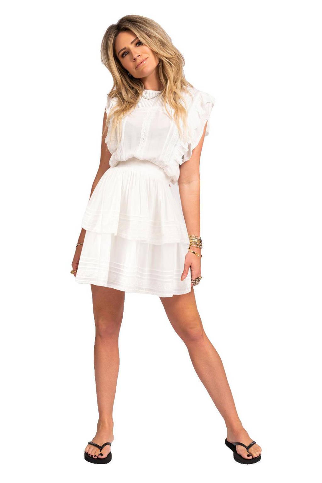 NIKKIE jurk Samiya met kant gebroken wit, Gebroken wit