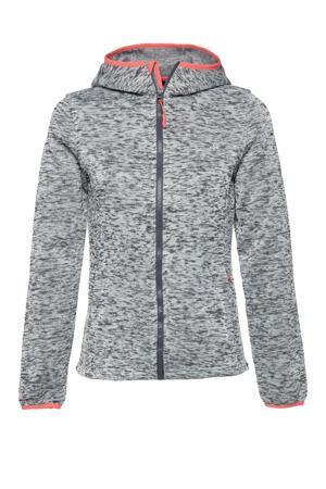 outdoor vest grijs melange/roze