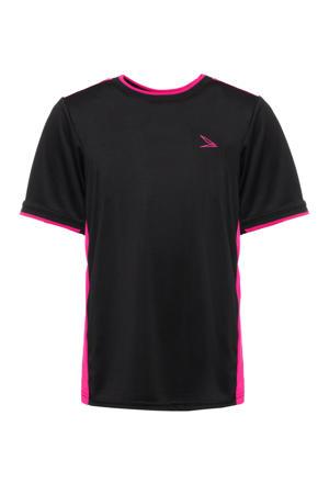 sport T-shirt zwart/roze
