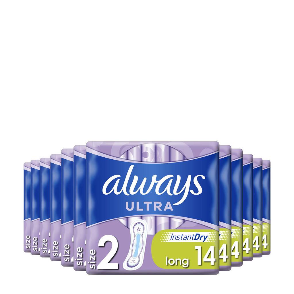 Always Ultra long maat 2 maandverband - 12 x 14 stuks